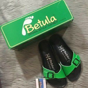 Betula For Foot Marks Neon Sandals NIB Luca Sz 7
